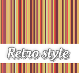 Retro style striped background with text