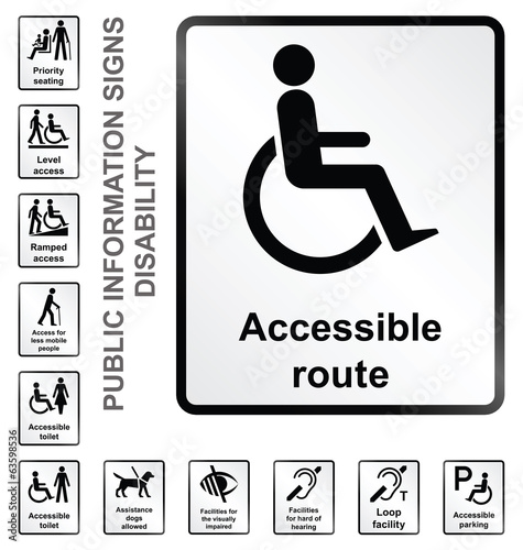 disability related public information signs