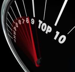 Top 10 Speedometer Scores Rising Achieve Best Ten Rating