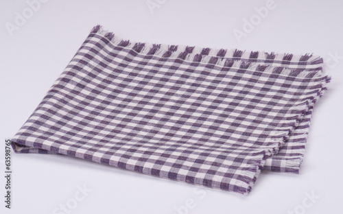 Folded Napkin On White Background