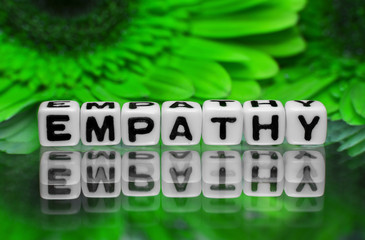 Empathy text with green flowers