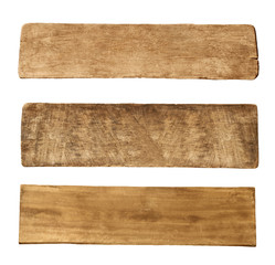 Three Pieces of Old Wooden Boards