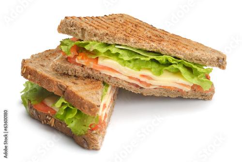 Foto op Canvas Snack sandwich
