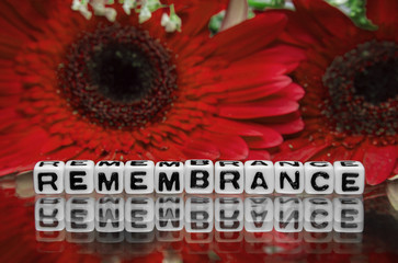 Remembrance text message the red flowers