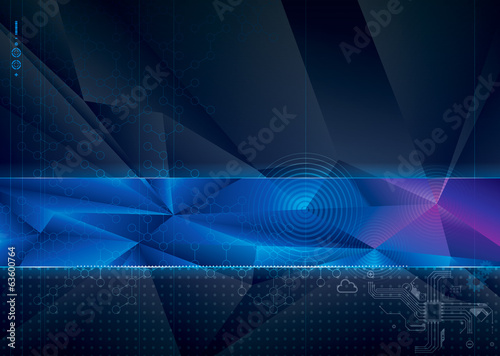 Abstract technology with geometric background.