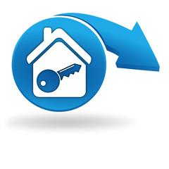 alarme habitation sur bouton bleu