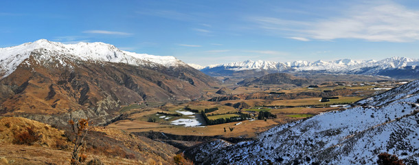 Wakatipu Basin Panorama - Queenstown, New Zealand