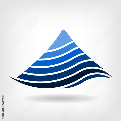 Layering mountain vector Logo