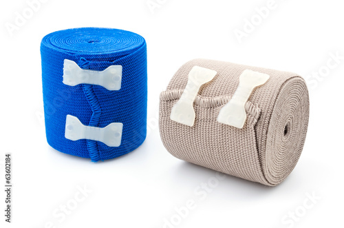 Elastic bandage isolated white background