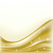abstract golden background with folding waves and stars