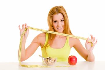 Gesundes Essen macht schlank