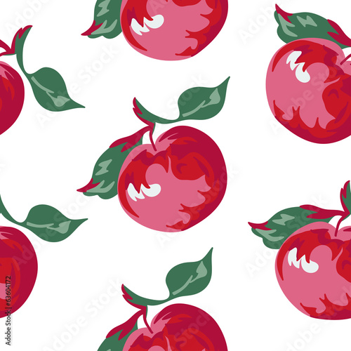 big apples seamless pattern