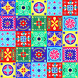 cheerful seamless pattern - holiday- Illustration