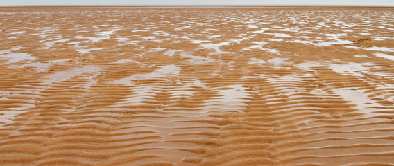 Sand ripples on a deserted beach