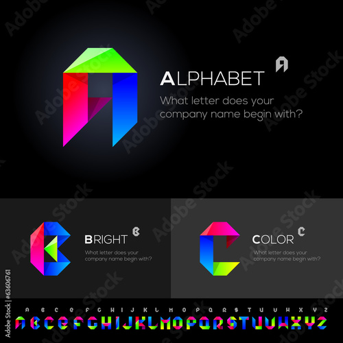 Vector Alphabet Set use as design elements