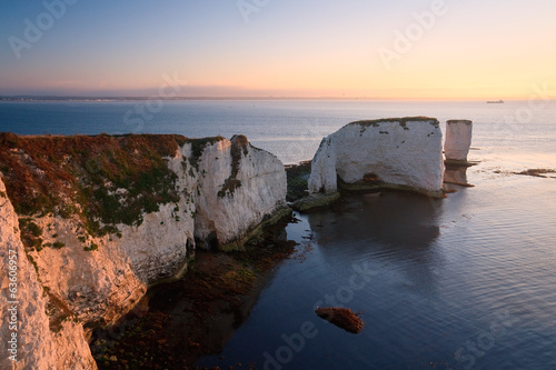Old Harry Rocks in Dorset, UK