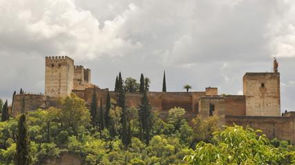 Granada, Altstadt, Aussichtspunkt, Frühling, Spanien