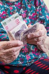 counting money (turkish lira)