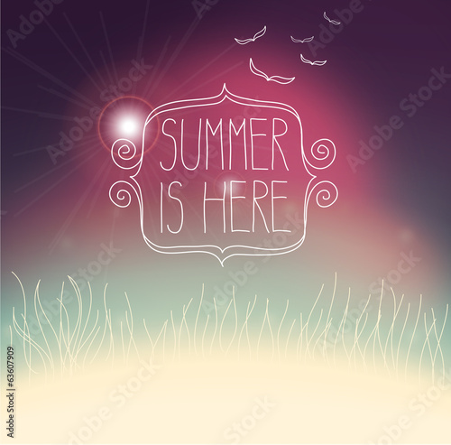 hipster summer abstract background. colorful poster.