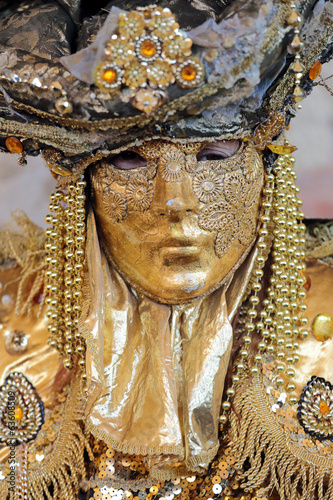 Golden mask at Carnival of Venice