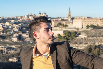 Fashion young man in Toledo, Spain