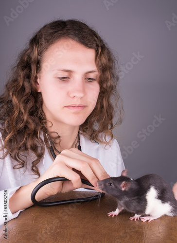 Young woman veterinarian
