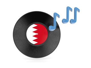 Vinyl disk with flag of bahrain
