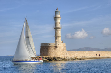 Sailboat in Chania, Crete