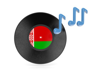 Vinyl disk with flag of belarus