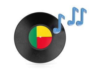 Vinyl disk with flag of benin