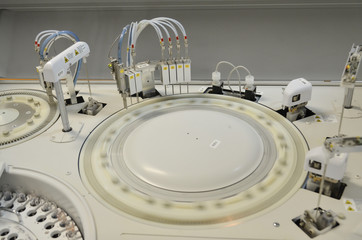 modern robotical machine for centrifuge blood and urine