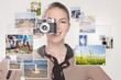 Junge Frau teilt Fotos