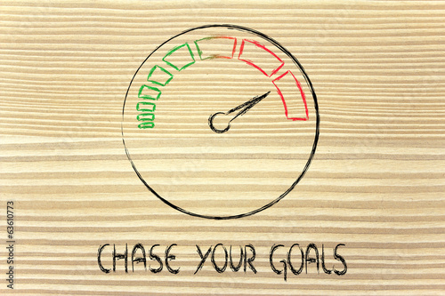 speedometer and fast success: chase your goals