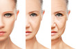 concept of aging and skin care isolated