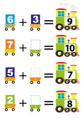 adding for kids- math trains/ vectors