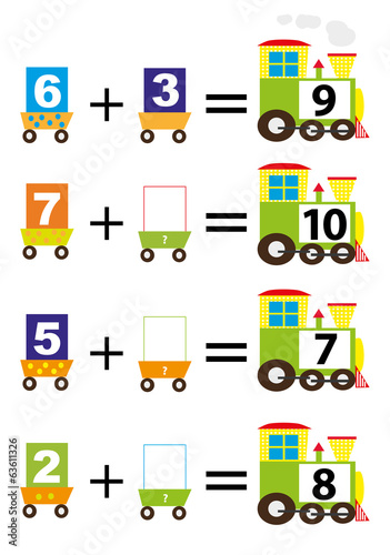 adding for kids- math trains/ vectors