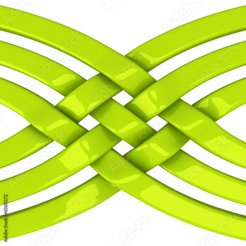 Abstract connection and network symbol, 3d