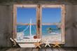 canvas print picture - Traumurlaub am Meer - Hintergrund Ozean