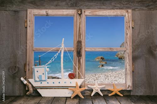 canvas print picture Traumurlaub am Meer - Hintergrund Ozean