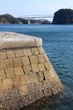 三角西港の岸壁と天草一号橋