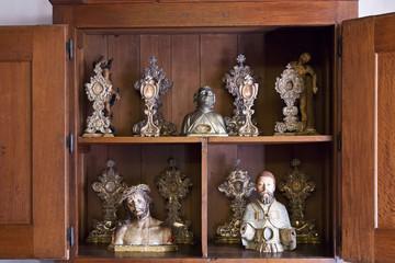 Reliquaries containing Saints bones