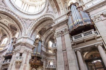 Three of the six organs of the Mafra Basilica