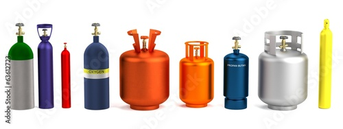 realistic 3d render of gas cans