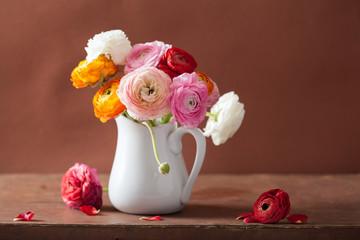 beautiful ranunculus bouquet in vase