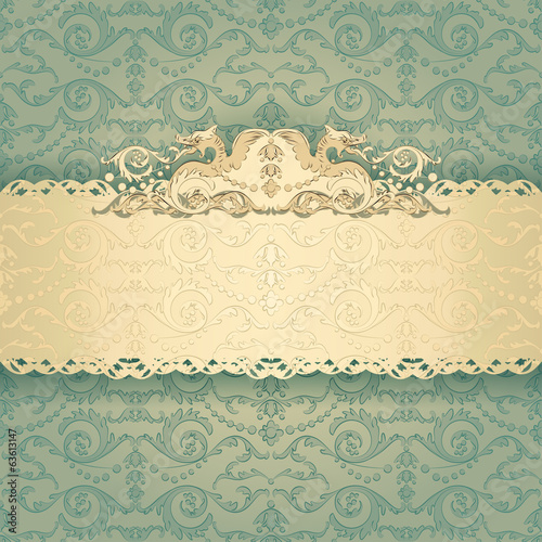 Vintage background, invitation cards in an vintage-style