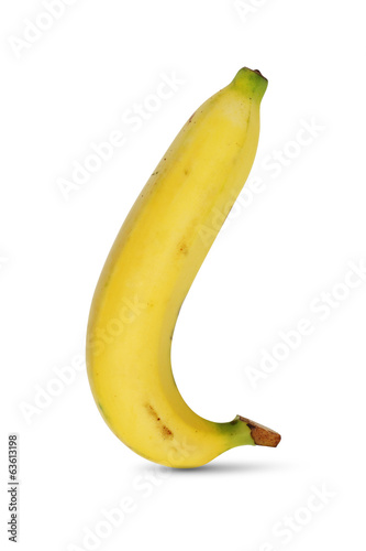 banana beautiful shape on white background isolated