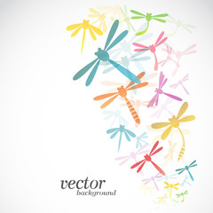 Dragonfly design on white background