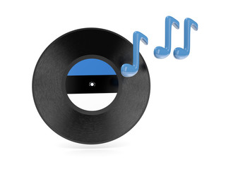 Vinyl disk with flag of estonia