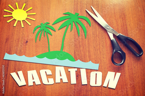Paper scraps about Vacation