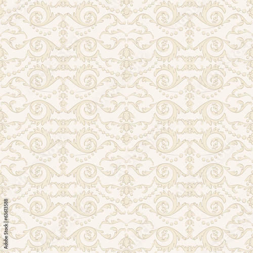 Seamless wallpaper with floral ornament for vintage design
